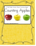 File Folder Counting Apples Up to 12 for Pre-k/ Kindergarten/Special Education