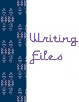 File Folder Cover Pages - Navy Lavender