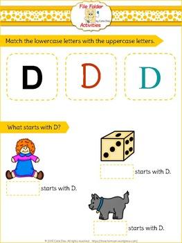 Letter D - File Folders