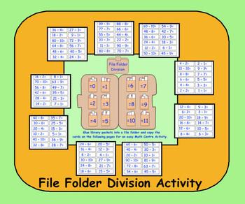 File Folder Division Activity (PDF)  for gr. 3-5