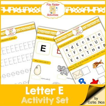 Letter E - File Folders