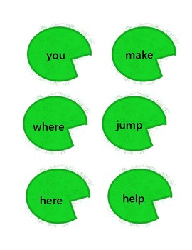 File Folder - Frog Sight Words