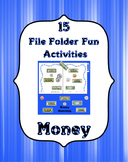 File Folder Fun ~ Money Set ~ 15 File Folder Activities &