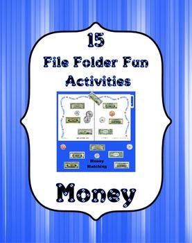 File Folder Fun ~ Money Set ~ 15 File Folder Activities &