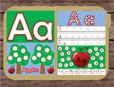 File Folder Game Alphabet Uppercase Lowercase Letter A Playdough Mat Busy Bag