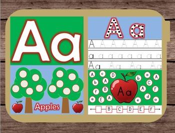 File Folder Game Alphabet Uppercase Lowercase Letter A Pla