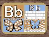 File Folder Game Alphabet Uppercase Lowercase Letter B Playdough Mat Busy Bag