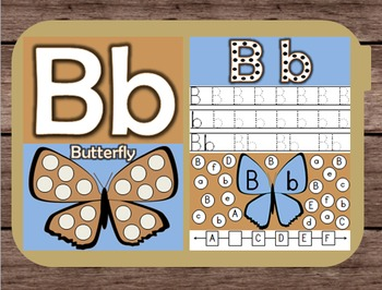 File Folder Game Alphabet Uppercase Lowercase Letter B Playdough Mat Busy Bag