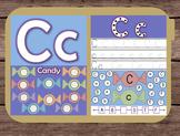 File Folder Game Alphabet Uppercase Lowercase Letter C Playdough Mat Busy Bag