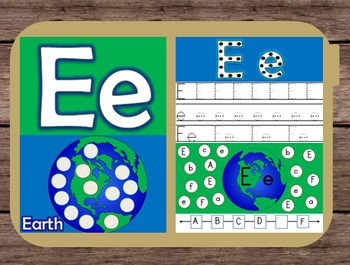 File Folder Game Alphabet Uppercase Lowercase Letter E Playdough Mat Busy Bag