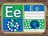File Folder Game Alphabet Uppercase Lowercase Letter E Playdough Mat Busy Bag