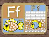 File Folder Game Alphabet Uppercase Lowercase Letter F Playdough Mat Busy Bag