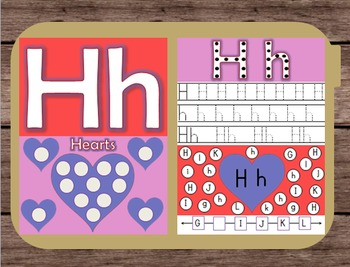 File Folder Game Alphabet Uppercase Lowercase Letter H Playdough Mat Busy Bag