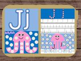 File Folder Game Alphabet Uppercase Lowercase Letter J Playdough Mat Busy Bag