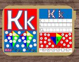 File Folder Game Alphabet Uppercase Lowercase Letter K Playdough Mat Busy Bag