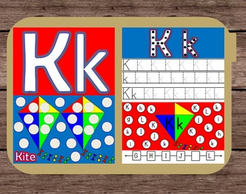 File Folder Game Alphabet Uppercase Lowercase Letter K Playdough Mat Busy Bag
