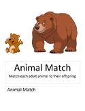 File Folder Game - Animal Match
