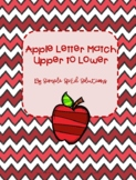 File Folder Game- Apple Letter Match Upper to Lower Case
