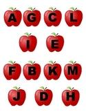 File Folder Game: Apple Letter Matching