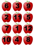 File Folder Game: Apple Number Matching