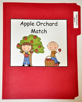 "File Folder Game--""Apple Orchard Match"""