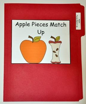 "File Folder Game--""Apple Pieces Match Up"""