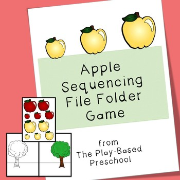 Apples File Folder Game - Sorting and Size Order