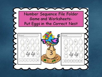 Number Sequence File Folder Game- Baby Birds