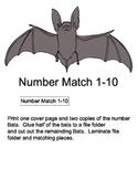 File Folder Game: Bat Number Matching