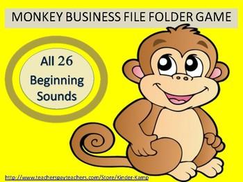 Literacy Center File Folder Game All 26 Begining Sounds