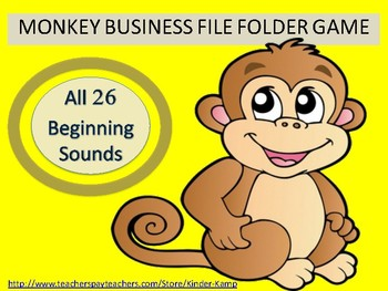 Literacy Center Beginning Sounds File Folder Game