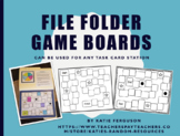 File Folder Game Boards- Great for Centers