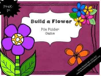 File Folder Game: Build a Spring Flower