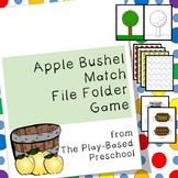 Apples File Folder Game - Color Sorting Activity