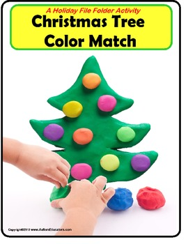 File Folder Game Christmas Tree Color Matching {Special Education/Pre-K}