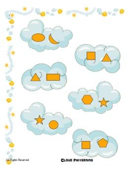 File Folder Game - Cloud Patterning - Preschool, Kindergarten, Autism