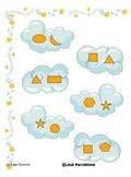 File Folder Game - Cloud Patterning - Preschool, Kindergar