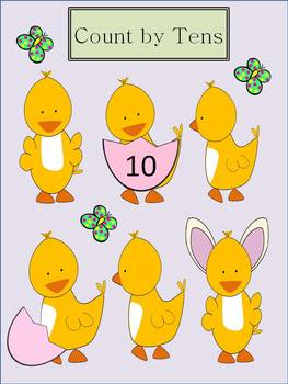 Skip Counting by 10 with Baby Ducks
