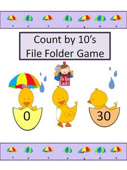 File Folder Game- Skip Counting by 10