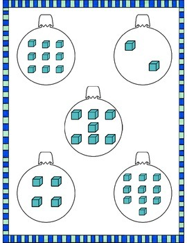 File Folder Game (Counting 1-10 Ornaments)