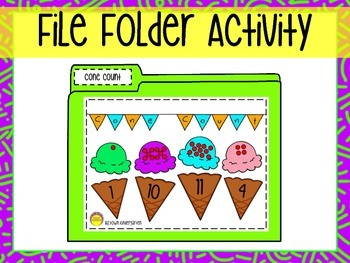 File Folder Game - Counting