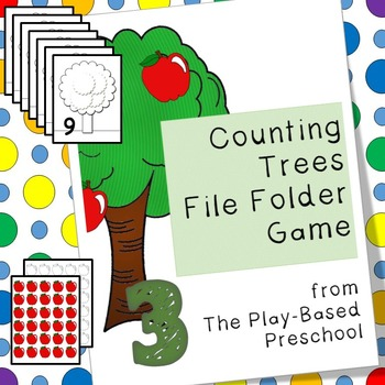 Apples: Counting Trees File Folder Game