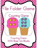 File Folder Game (Counting to 10 with Ice Cream)