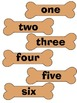 File Folder Game: Dog Number and Number Word Match 1-12