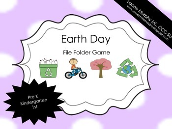 File Folder Game: Earth Day