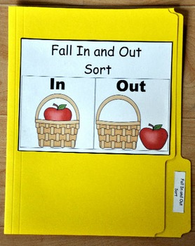 """File Folder Game--""""Fall In and Out Sort"""""""