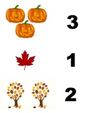 File Folder Game: Fall Number Counting