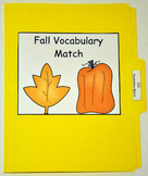 """File Folder Game--""""Fall Vocabulary Match Up"""""""