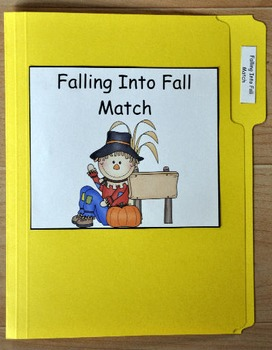 "File Folder Game--""Falling Into Fall Match"""