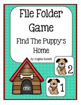 A File Folder Game ~ Find The Puppy's Home